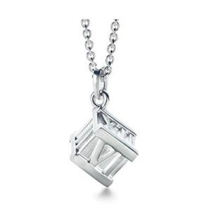 Tiffany & Co Atlas Cube Pendant